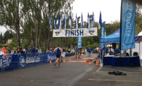 and he is at the finish line!