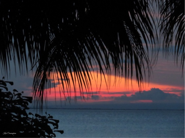Sunset over the lake on Ometepe Island, Nicaragua