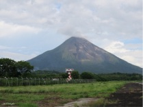 The volcano at the airport as we head into town