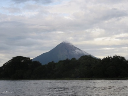 We take the kayak out on the lake, and enjoy the view of the volcano
