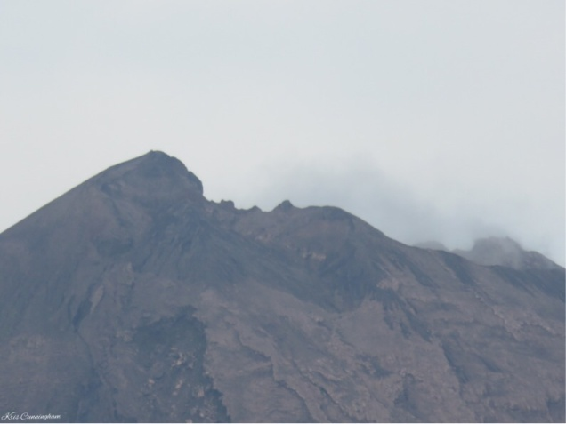 This is the very top of the volcano as well as I could get it with the zoom on my camera.