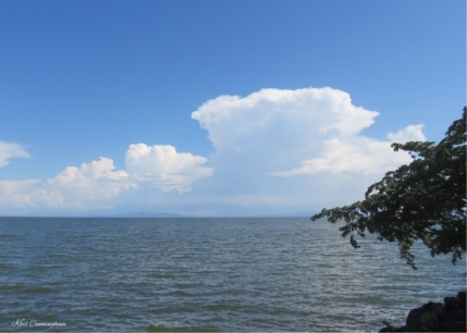 We stop in San Jose del Sur to check out Las Brisas, the boat dock. The clouds were really beautiful.