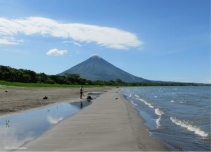 Looking the other direction on the beach you see the Concepcion Volcano. What a beautiful area!