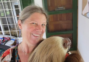 Selfie with a sloth