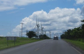 We passed dozens and dozens of wind turbines as we left Rivas.
