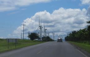 We passed dozens and dozens of wind turbines as we left Rivas.