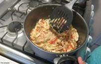 Add the shredded chicken