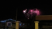 As the evening went on, there were really beautiful fireworks going off in many directions.