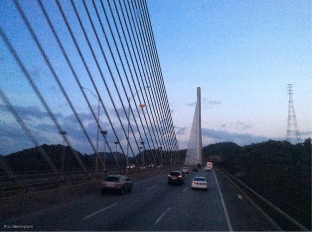 We came in over the Centennial Bridge which was a surprise. Most other bus trips have taken us over the Bridge of the Americas
