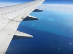 There is a shelf around the Bahamas that was clearly visible from the air.
