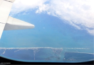 Arriving in US airspace, the east coast of southern Florida is clearly visible.