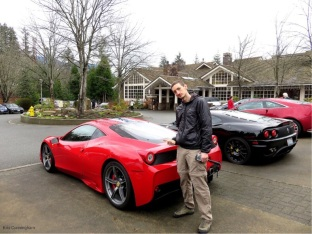 Drew looks good by his Ferrari