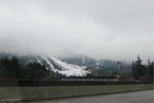 We passed a couple ski resorts