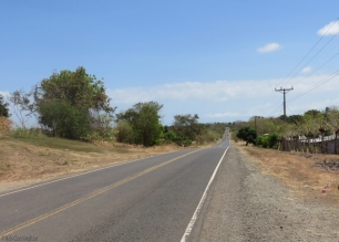 After I left Las Tablas the road became two lane with gravel shoulders. There was less traffic though and the drivers were very considerate.