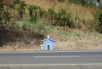 These shrines can been seen occasionally all over Panama, memorials to people who have died in traffic accidents.