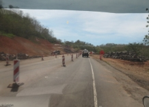 As we come towards Tole the construction resumes.