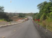 A bridge under construction