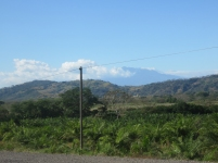 There is Volcan Baru! How nice because this means I am getting close to home.