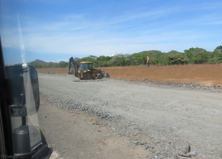 Other sections of the new road are gravel.