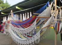 Gorgeous hand made hammocks, I think from Nicaragua, $70.