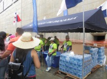 This is one of many water stations we saw throughout the day. The staff all had t-shirts that said - I am a part of history! They were very friendly and seemed happy to help guests and be a part of this day.