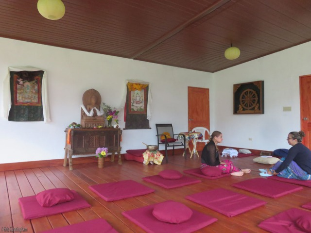 A lovely teaching and meditation space had been prepared.