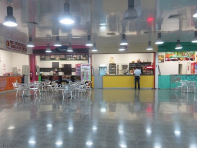 One side of the food court.
