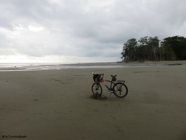 My bike made it to a Costa Rica beach!