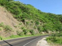 there were some hills but thankfully the road went through the rock walls and not over them.