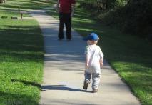 OK, onward we go following daddy.