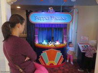 Just outside the toddler area is the puppet theater