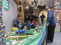 The model trains were very popular.