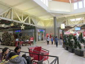 The mall was pleasant and relaxed with no crazy or frantic shoppers.