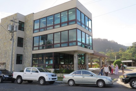 The library is a pretty building right on the main street as you come into Boquete