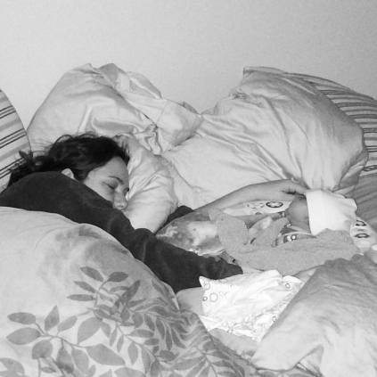Having a baby is exhausting, so you catch some sleep when you can