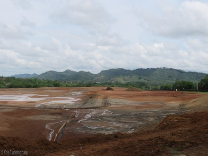 Now there is a large, wide open and flat area. This photo is looking somewhat north from the entrance on Via Boquete.