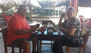 Tito joined us for a great lunch of friend fish and patacones