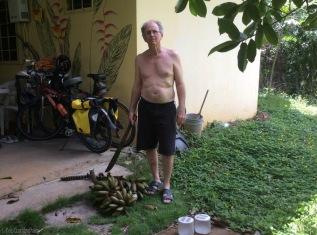 Man and bananas!