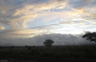 We were coming back from Boquete one day at sunset and the sky was really beautiful