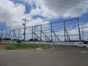 These metal structures at the ball field have multiplied in the last few days.