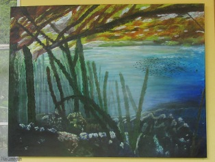 This is from a photo of kelp growing in the sea. I did this one for myself.