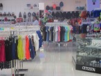 A sneak photo on the main floor - women's clothes and accessories