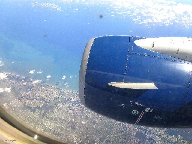 The east coast of Florida