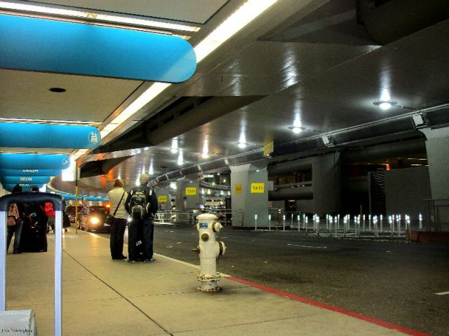 SFO, waiting for my daughter to pick us up