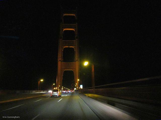 The Golden Gate Bridge in the night