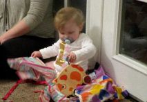 Marian opens presents too