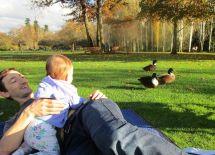 Look dad, the ducks!