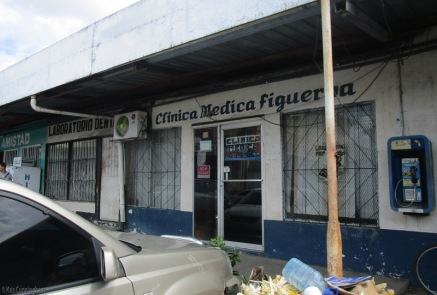 We passed a number of medical clinics