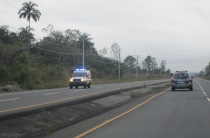 I never could figure out why police and emergency vehicles often drive with their flashing lights on. For quite a while we thought we were being pulled over, but they just drive right on by. Now we have learned to not be so concerned.