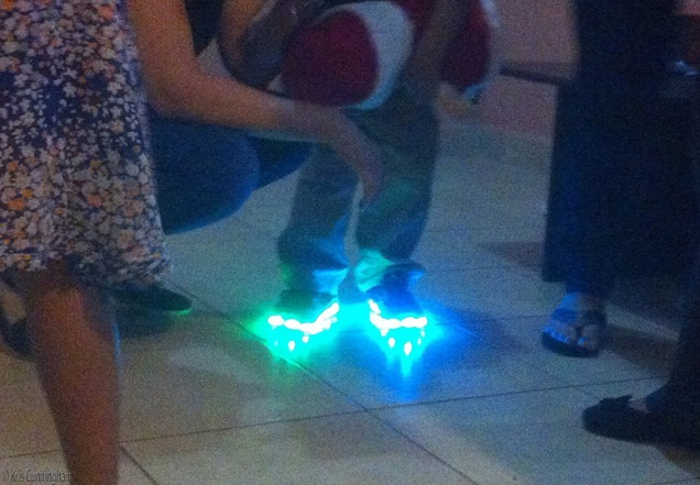 Many kids had the lighted shoes.